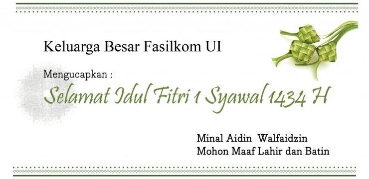 Halal Bihalal Idul Fitri 1434 H Fakultas Ilmu Komputer UI