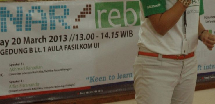 "Seminar Reboan: MACH Program ""Keen to Learn More about Microsoft Internship?"""