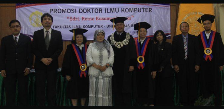 Promosi Doktor Fasilkom UI 2014 – Dr. Retno Kusumaningrum