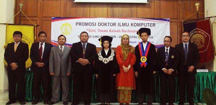 Promosi Doktor Fasilkom UI 2014 – Dr. Ummi Azizah Rachmawati