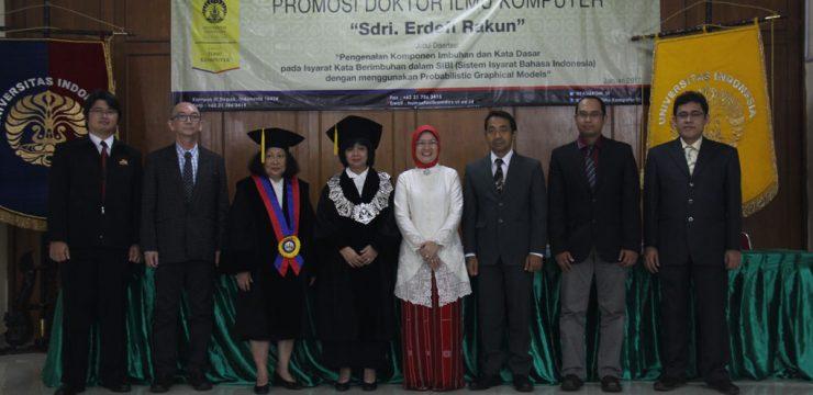 Promosi Doktor Ilmu Komputer – Dr. Erdefi Rakun