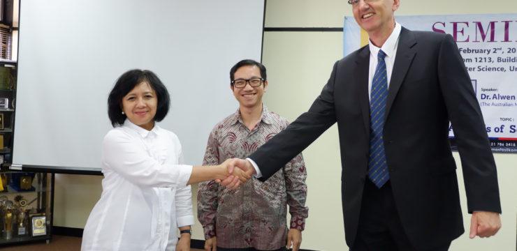Penandatanganan Articulated Agreement antara Fasilkom Universitas Indonesia dan ANU College of Engineering & Computer Science